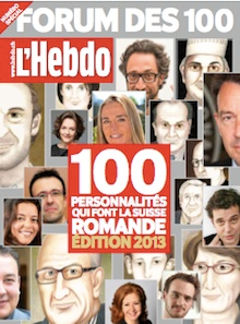"""Les """"100 personnalités"""" de Suisse Romande, édition 2013"""