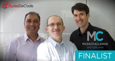 SwissDeCode a MassChallenge CH startup will compete together with 3 other swiss companies for a 100'000€ prize
