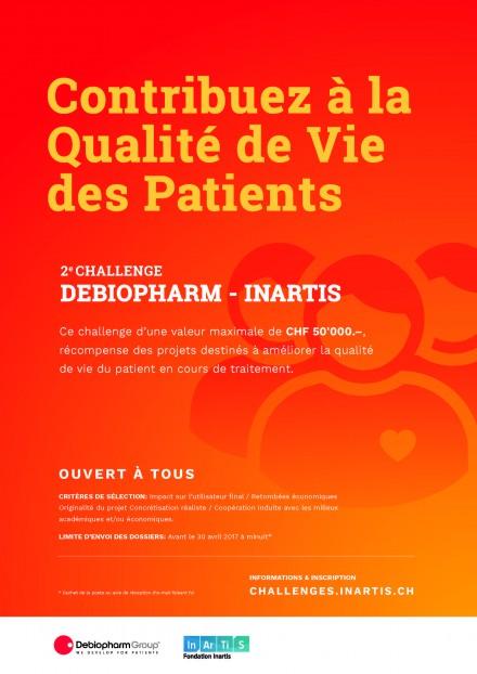 Appel à projets pour la 2ème édition du Challenge Debiopharm Inartis