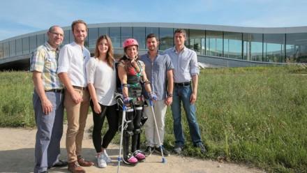 Un exosquelette fait l'événement au salon des inventions de Genève