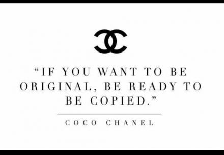 """""""Si tu veux être original , soit prêt à être copié"""""""