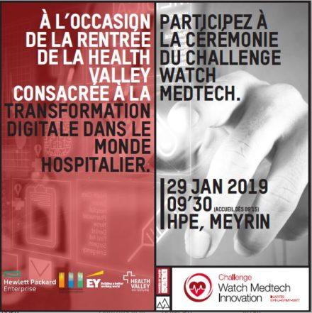 Challenge Watch Medtech : Elisez le lauréat 2018 le 29 janvier