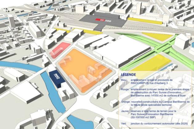Parc suisse d'innovation de Bienne : un crédit pour assainir le site