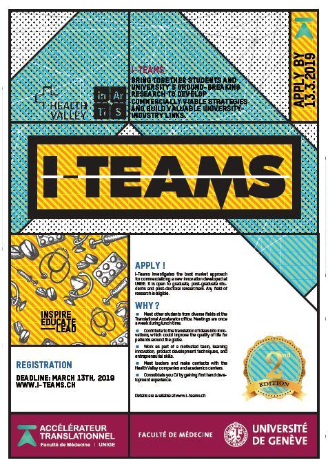 """[INARTIS-UNIGE] Rejoignez la deuxième édition du trophée """"i-teams"""""""