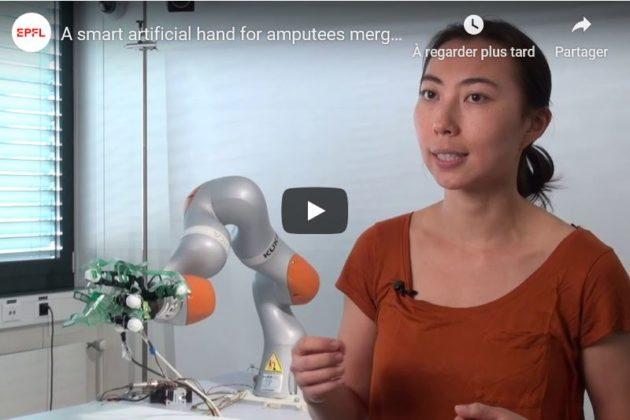 Test réussi d'une main artificielle intelligente