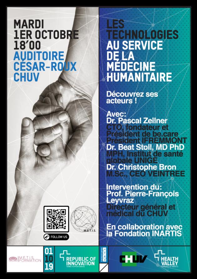 [HEALTH VALLEY] Evènement : La technologie au service de la médecine humanitaire