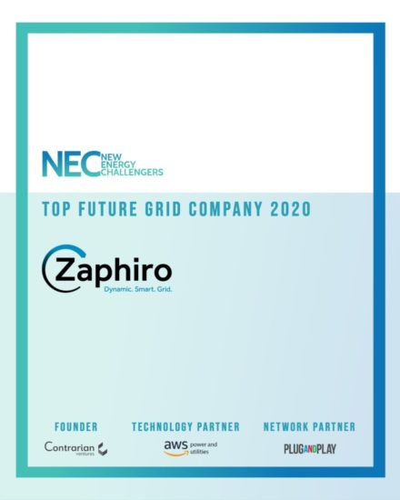 [Station R] Zaphiro wins the Future Grid category of the New Energy Challenge